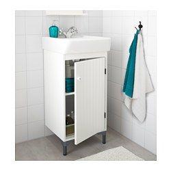 IKEA - SILVERÅN / HAMNVIKEN, Tvättställsskåp med 1 dörr, , Ställbara fötter ger stabilitet och skydd mot golvfukt.En bra lösning om du har ont om plats.