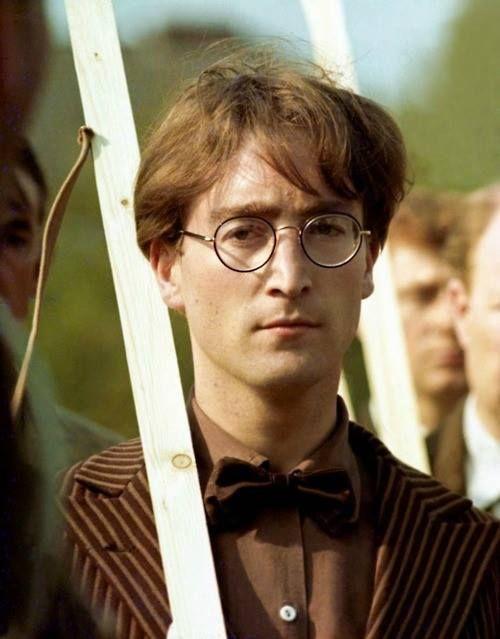 John Lennon. Harry Potter style before Harry Potter was cool.