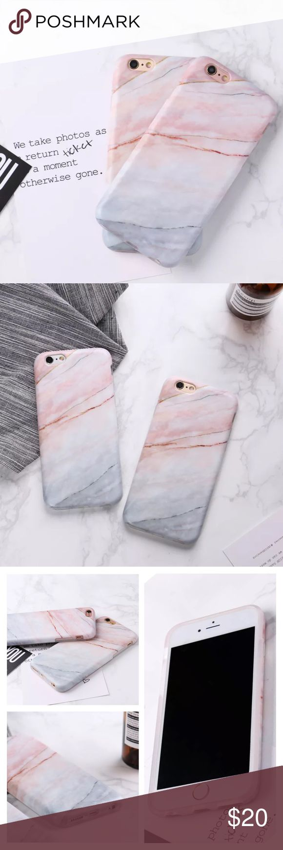 Marble Silicone IPhone Case Protective Cover •Marble iPhone Case• Pink/White Silicone Protective Cover Available for iPhone 7/7s Plus (Also available for iPhone 6/6s & 6/6s Plus. See other listings) Beautiful marble inspired case, with Pink an