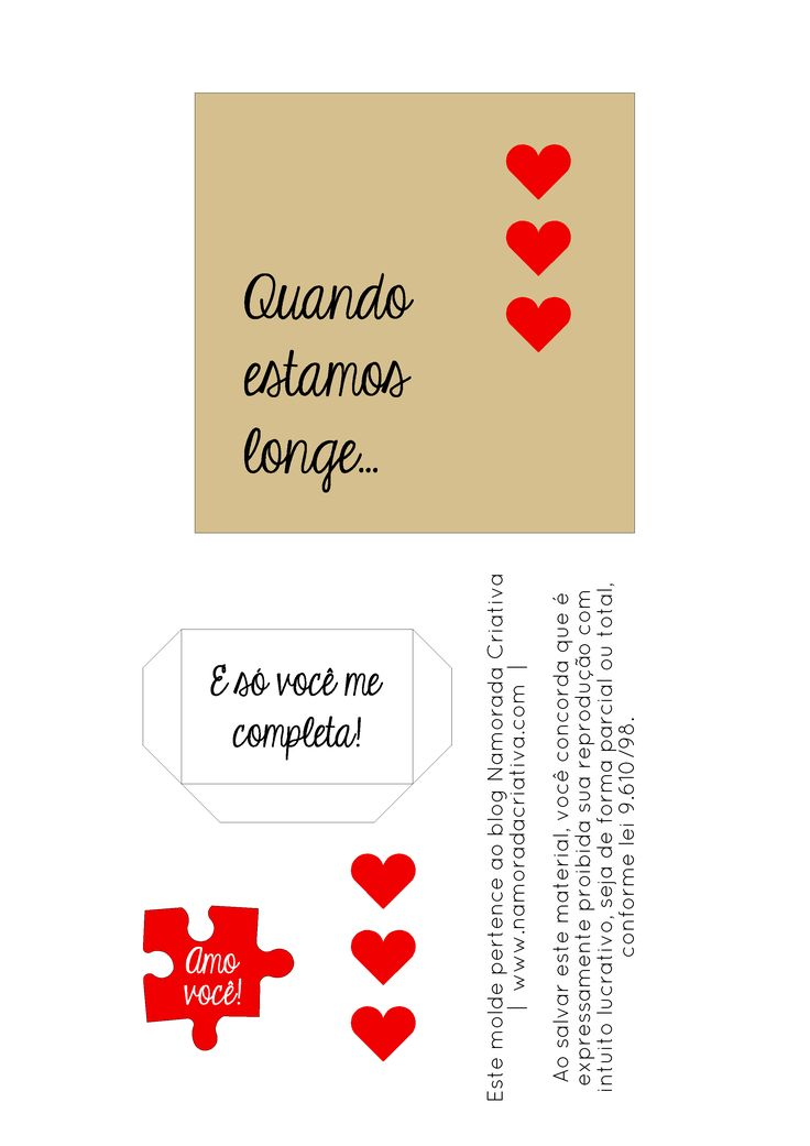 DIY DIA DA SAUDADE - CARTÃOZINHO SÓ VOCÊ ME COMPLETA - BLOG NAMORADA CRIATIVA - MOLDE 02