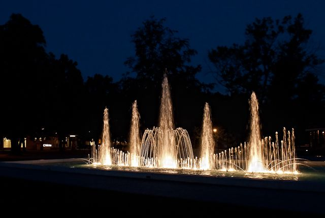 Poděbrady - night fountain