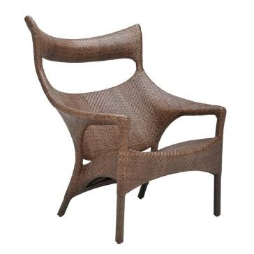 Amari Rattan High Back Lounge Chair