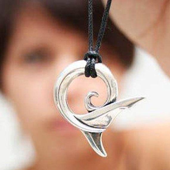 Silver Shark Spirit Koru Pendant.
