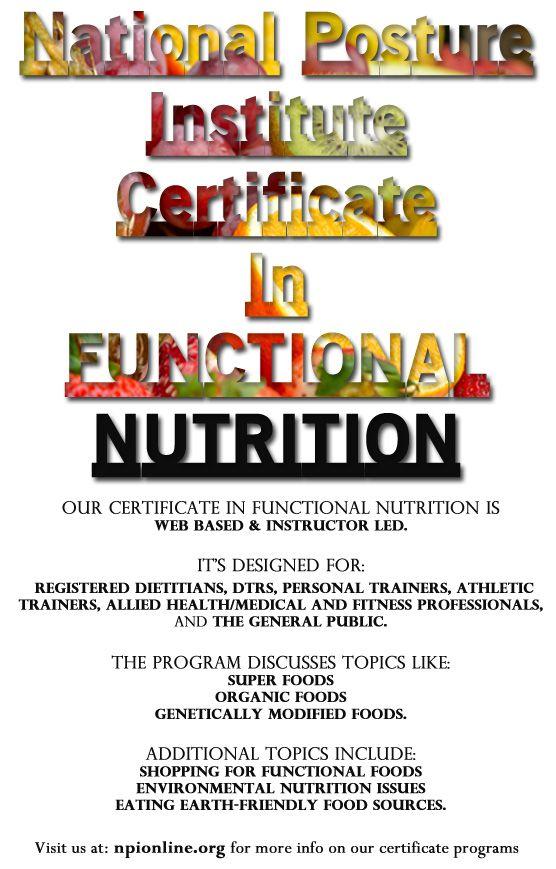 Online Certificate Programs Online Certificate Programs Nutrition