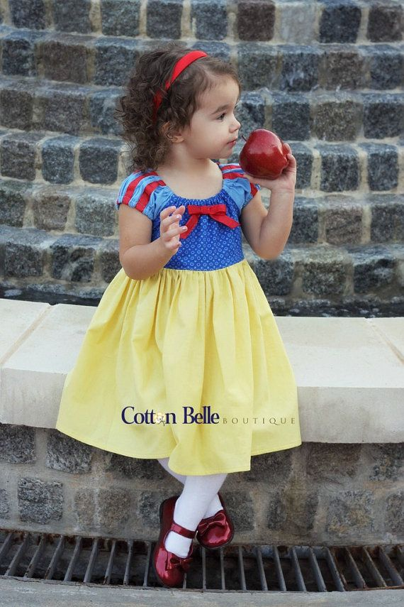 Snow White Dress Cotton Dress Every Day by CottonBelleBoutique, $45.00