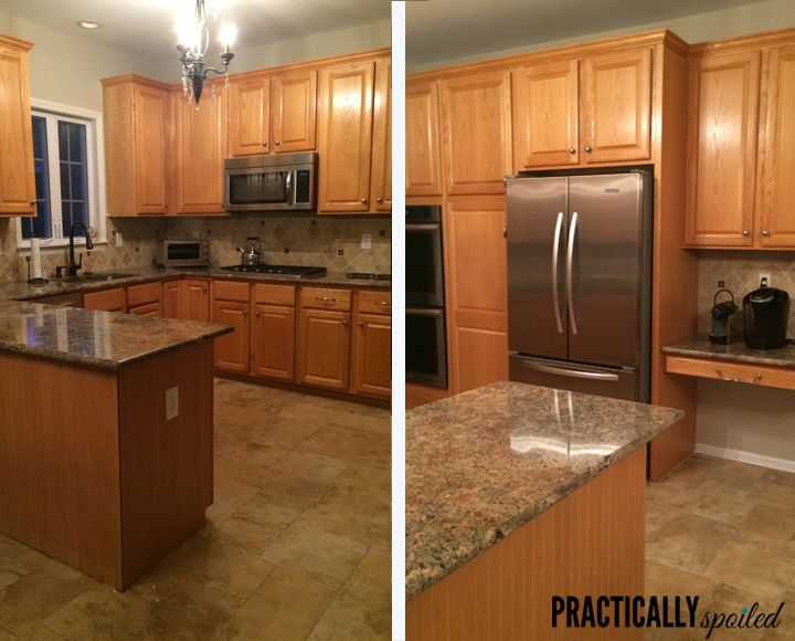 78 images about before and afters on pinterest bonus for Best paint for kitchen cabinets oak