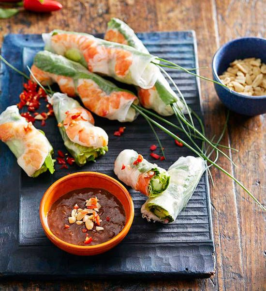 Full of fragrant flavour and served with a divine dipping sauce, these Asian-inspired rolls make impressive, inexpensive finger food.