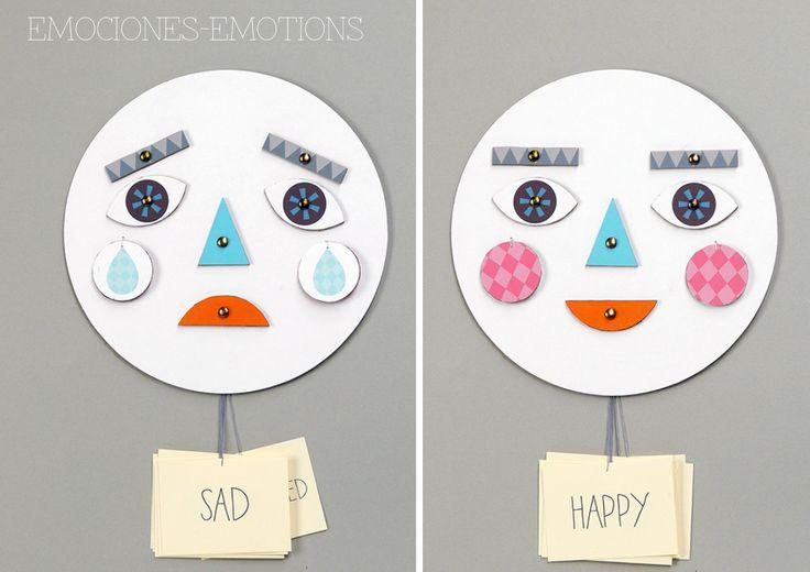 Juego de emociones DIY para niños reciclado. #IDOPROYECT