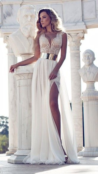 Best 25+ Cream prom dresses ideas on Pinterest | Cream long ...