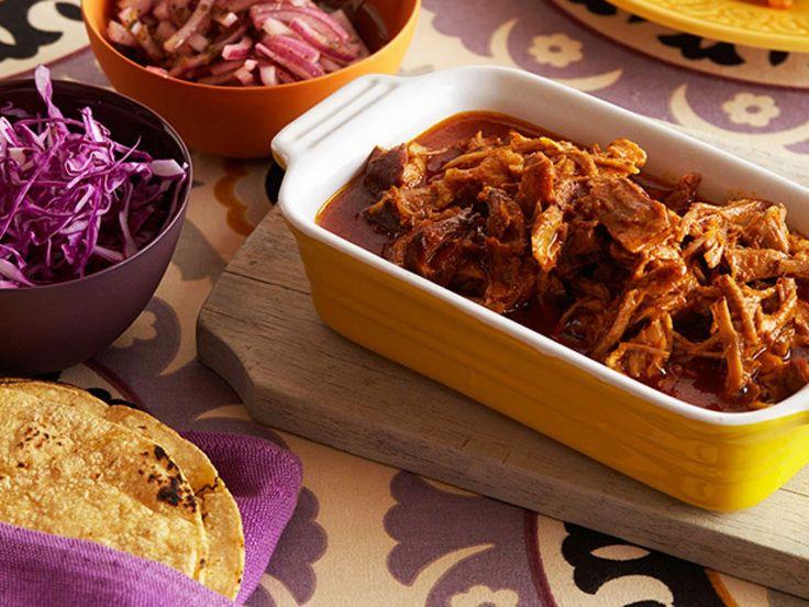 Shredded Pork Tacos recipe from Marcela Valladolid via Food Network