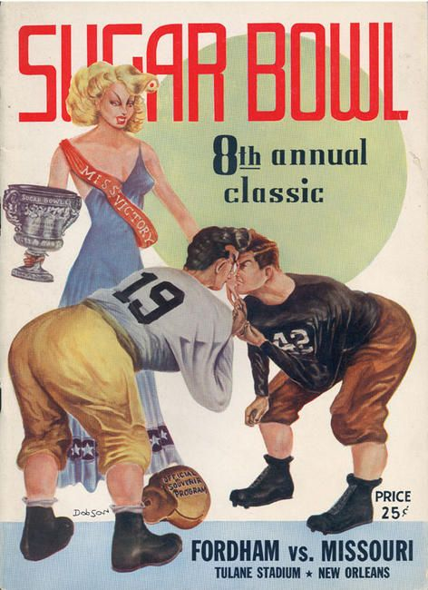 1942 Game Program between Fordham vs Missouri.
