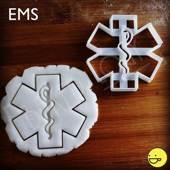 Emergency Medical Services cookie cutter biscuit by Bakerlogy