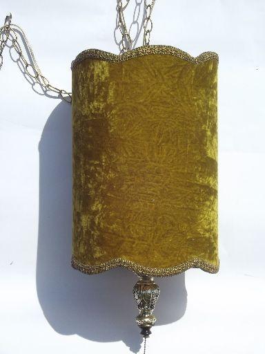 Swag Lamps Retro Vintage Lighting Crushed Velvet