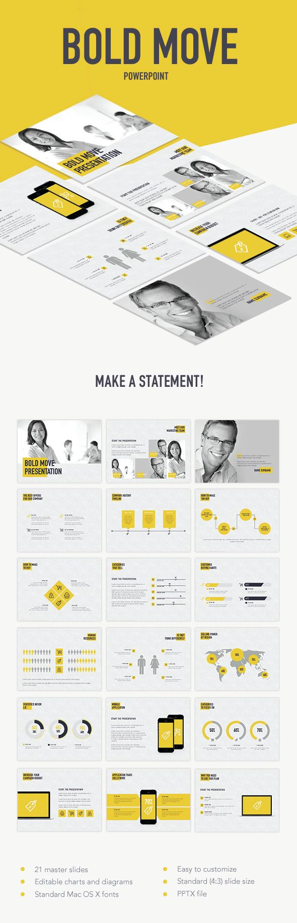 Bold Move PowerPoint Template