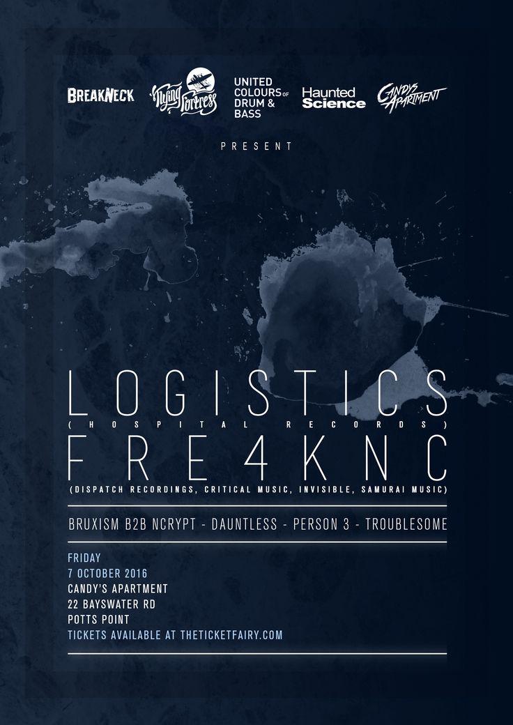 Logistics [UK] & Fre4knc [NL] Fri 7 Oct -Sydney