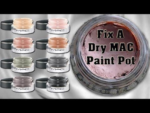 Fix a Dry MAC Paint Pot: Easy, Cheap & Safe! - YouTube