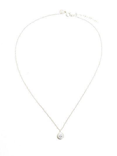 Crystal Pebble Silver Necklace- by Heid Hoff at HeidisHoff.no