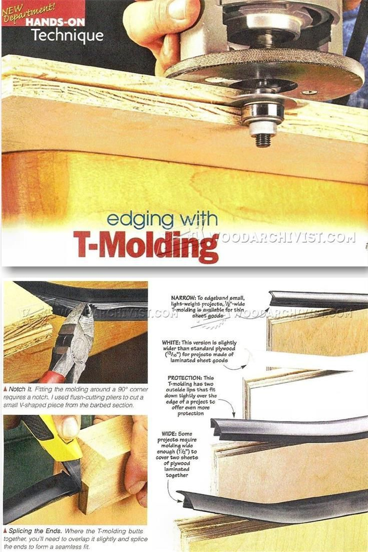 Edging with T-Molding - Edging Tips, Jigs and Techniques - Woodwork, Woodworking, Woodworking Plans, Woodworking Projects