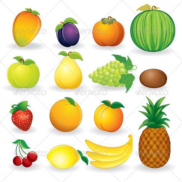 Fresh Fruits - Vector Collection