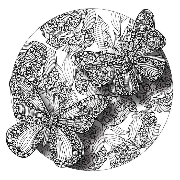 Divine Butterflies Mandala Colorme Decal By Valentina Harper Butterfly Mandala Coloring Pages Zentangle Patterns