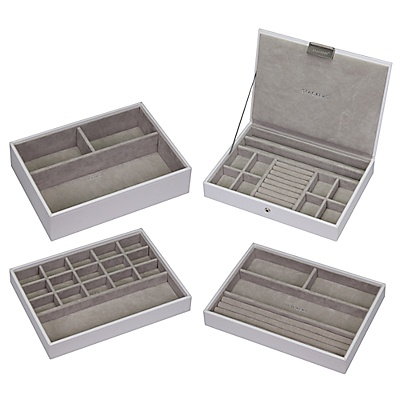 Buy Stackers Jewellery Box, White/Putty online at JohnLewis.com - John Lewis