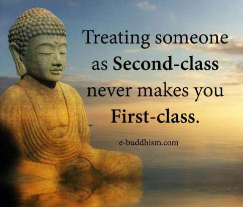 No one should be treated second class. We should all be first class together!