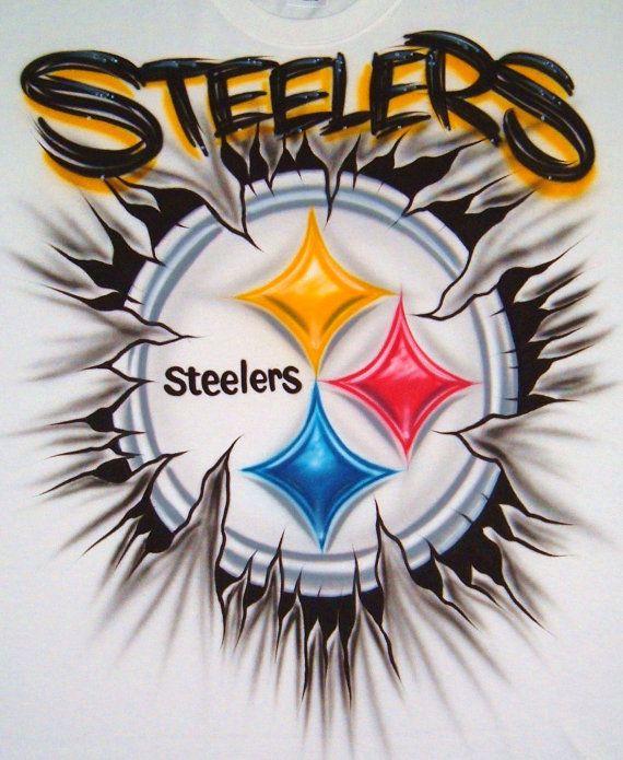 Custom Airbrush T Shirt Steelers Football Team by BizzeeAirbrush, $20.99