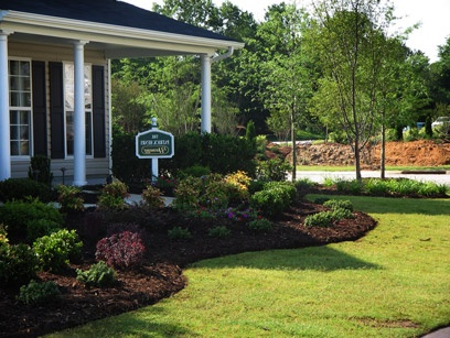 Landscaping Ideas .... simple yet striking design for the front of a home