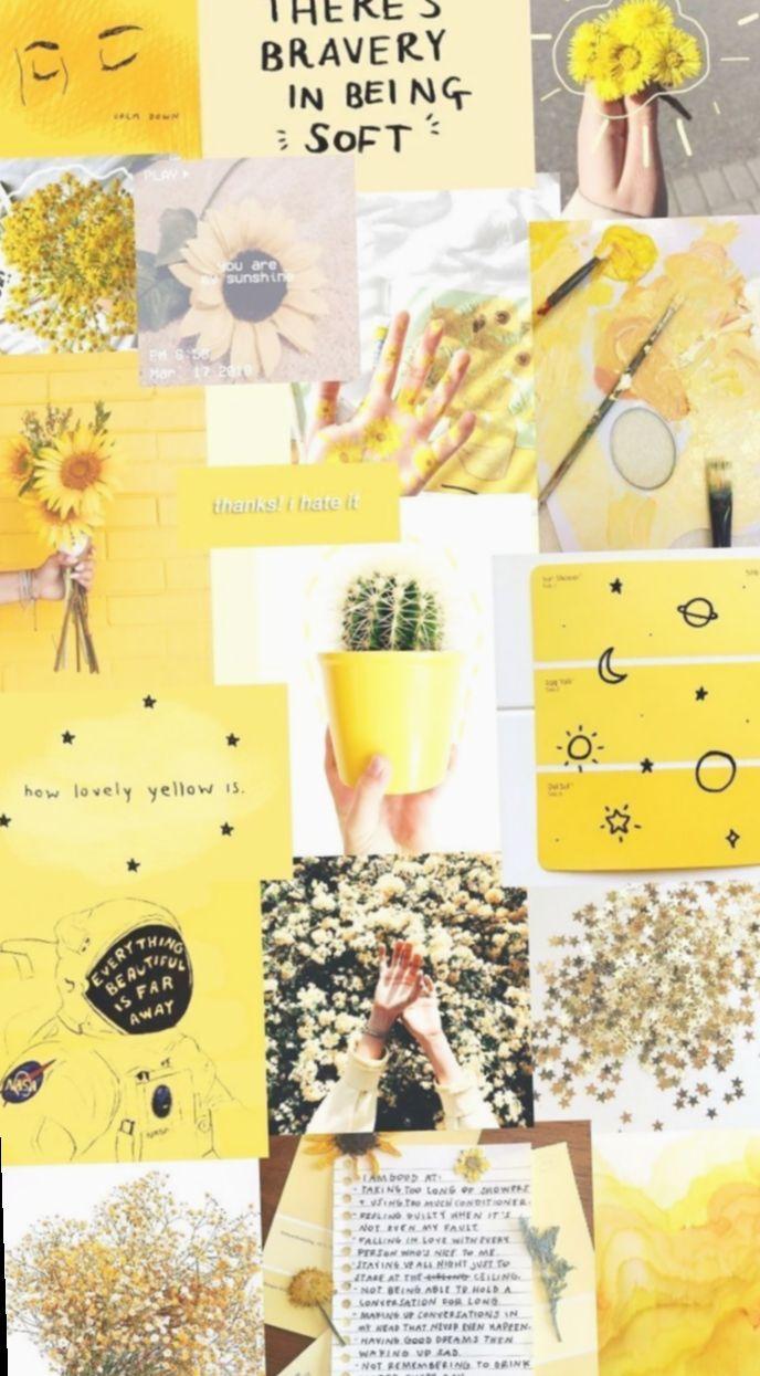 20 Cute Tumblr Wallpapers Yellow Poster Bunga Seni Buku Lukisan Flamingo