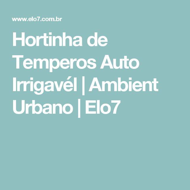 Hortinha de Temperos Auto Irrigavél | Ambient Urbano | Elo7