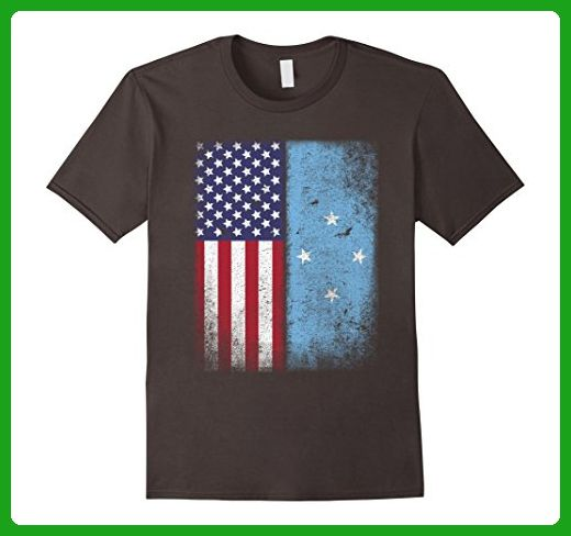 Mens American Micronesian Flag T-shirt Micronesia Pride Heritage XL Asphalt - Cities countries flags shirts (*Amazon Partner-Link)