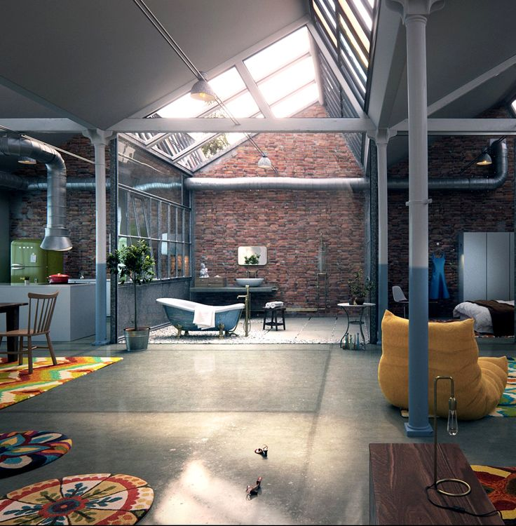 Best 很棒 Images On Pinterest Google Search Html And - A loft with industrial design by russian designer maxim zhukov