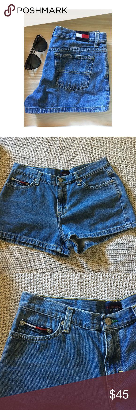 Vintage Tommy Hilfiger Shorts Vintage Tommy Hilfiger Jean shorts. High waisted. Great condition. Size 9. Tommy Hilfiger Shorts Jean Shorts
