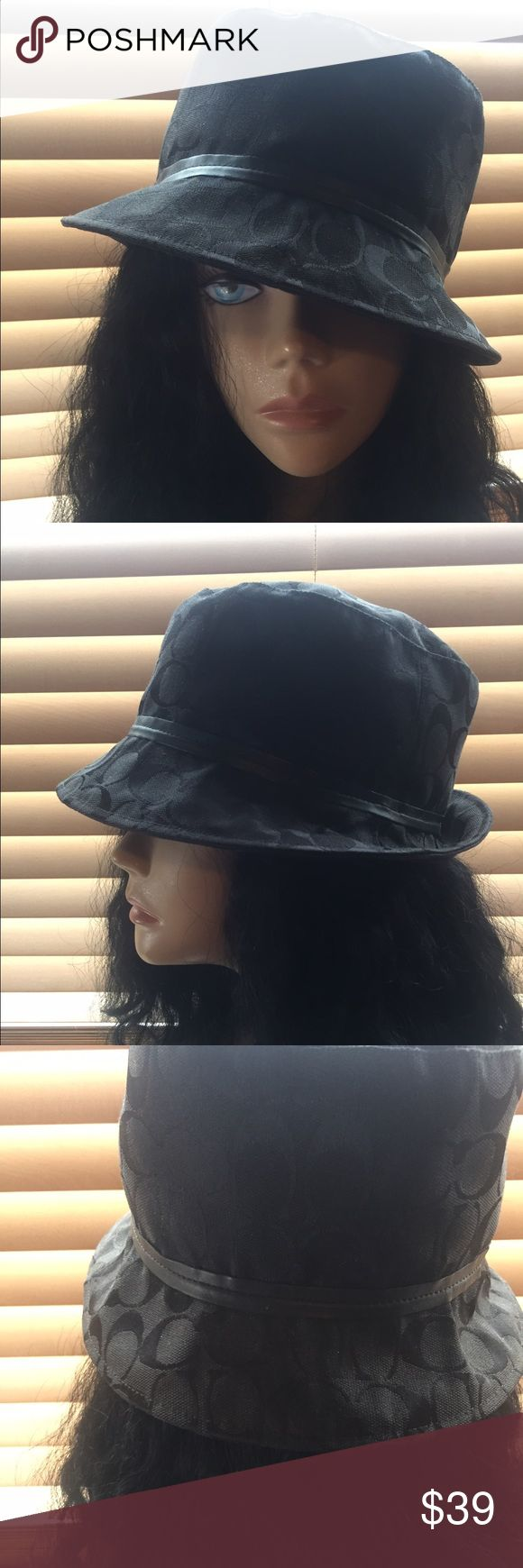 Coach Hat Black signature Coach Hat. Photos describe it better. Authentic Coach Hat. Coach Accessories Hats