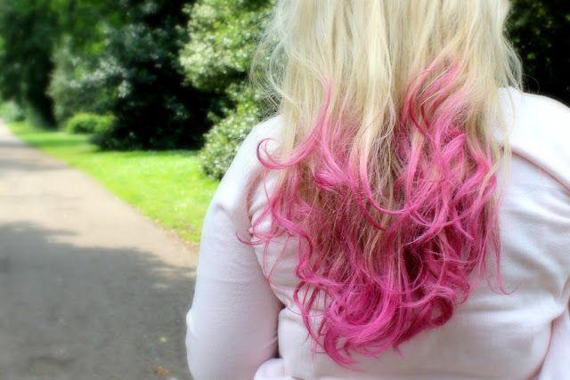 Louise from Sprinkle of Glitter's pink ombre hair! I've got hair envy!(: #ombre #pink #sprinkleofglitter