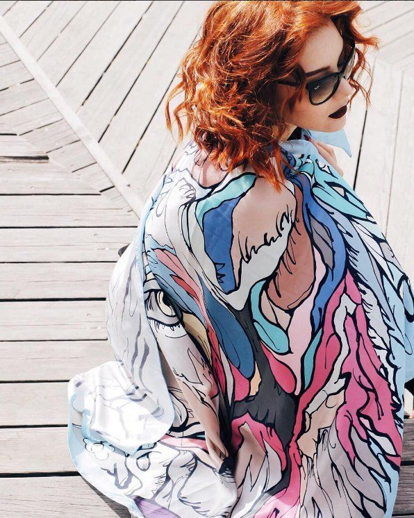 Our design scarf for Radical Chic accessories Mosow. Solstudio textile design. @solstudiodesign.com  #radicalchicfashion #accessories #silk #foulard #scarf #silkscarves #shopping #fashiongram #moscow #шелковыйплаток #модныеаксессуары #шоппинг #идеиподарков #подарок #купитьплаток #платок #шарф #палантин