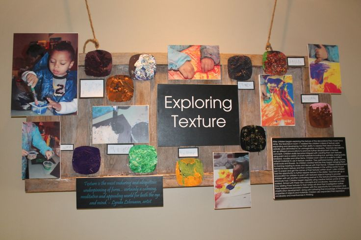 "Beautiful 'Exploring Texture' display from Through A Preschool Lens ("",)"