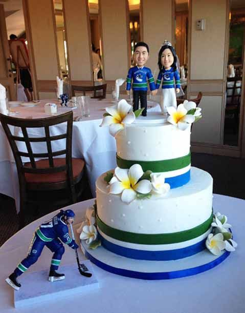 Canuck Themed Wedding Cake