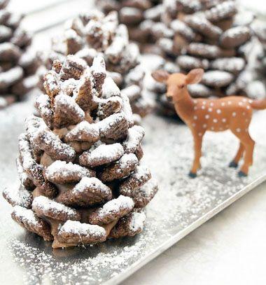 Ehető toboz müzliből - karácsonyi édesség