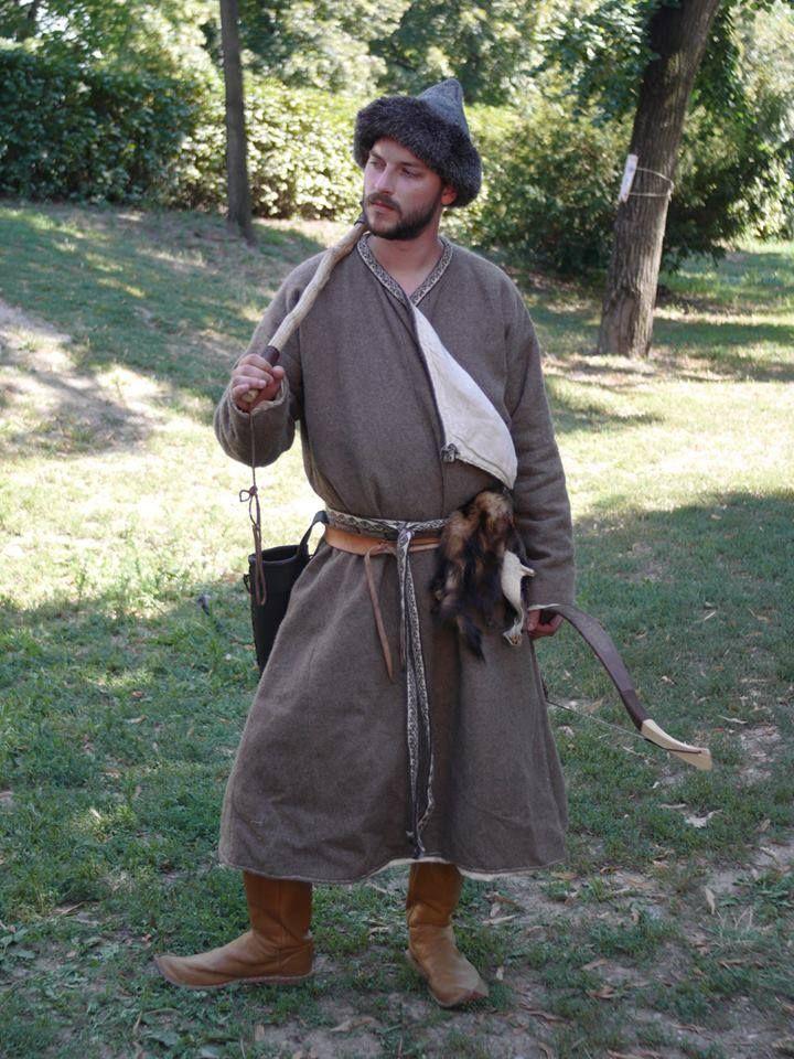handmade mongolian coat / kaftan, wool/linen