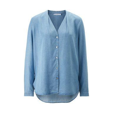 Jeansblus, jeansblå