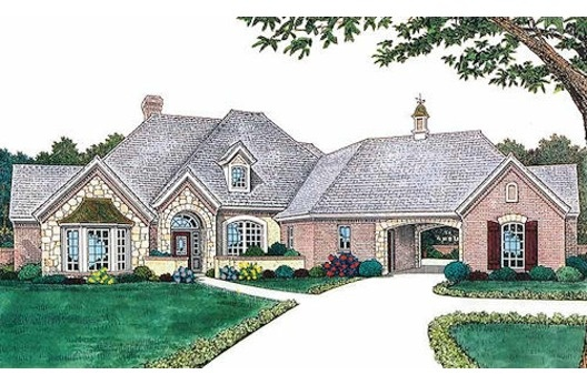 Home Plans With Portico Driveway House Design Ideas