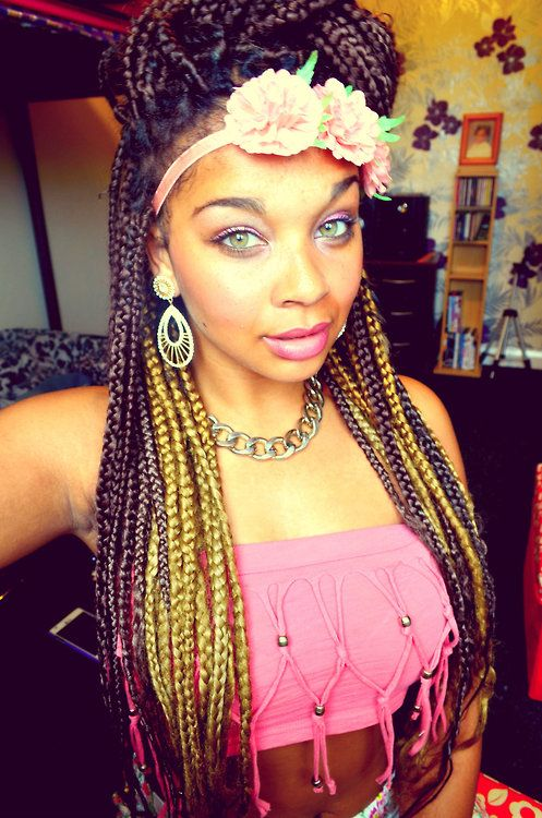 Burgundy And Blonde Box Braids ϸ� Braids ™� Pinterest