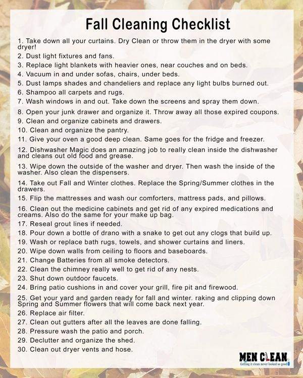 Start your fall cleaning now and use this checklist to have an awesome and squeaky clean house in 2 weeks.