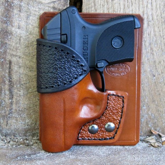 Combo Pocket Holster Wallet Holster for by JohnstonGunLeather, $50.00