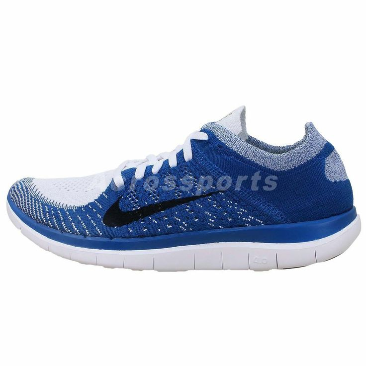 Nike Free Flyknit 4.0 Barefoot Blue White 2014 New Mens Running Shoes Run 2  3