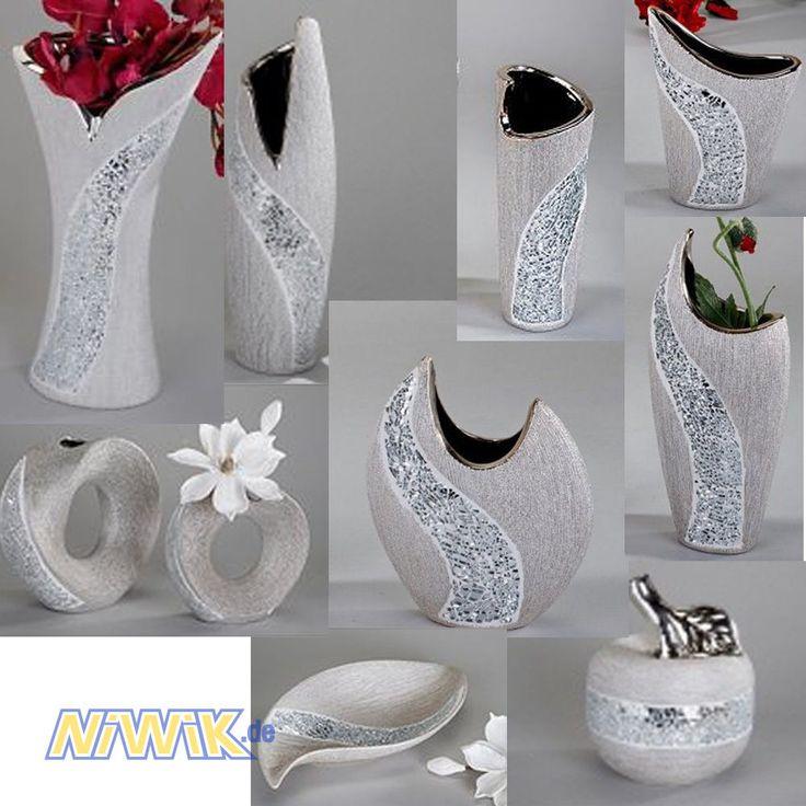 Ideal Details zu Formano Vase Silber Mosaik Serie Schale Dekoapfel Vasen Dekoartikel