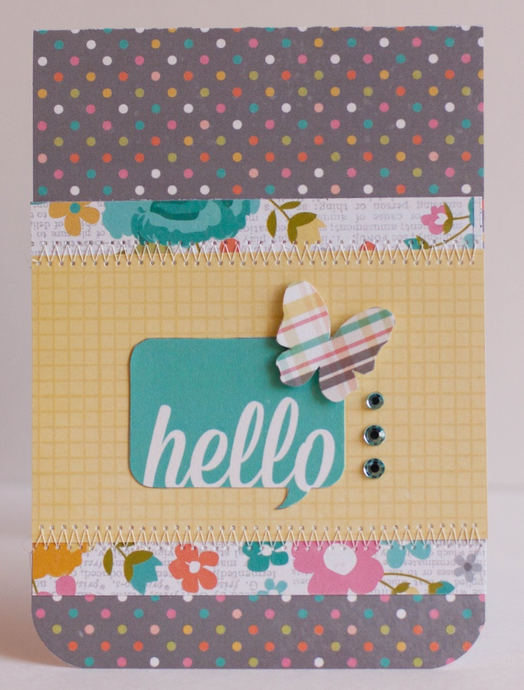 Vintage Bliss - Hello Card - Rebecca Keppel