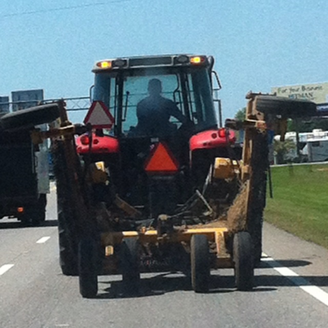 Why do I always get stuck behind tractors on a busy street? No other place in the world except Sweet Home Alabama!