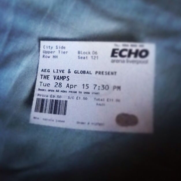 The Vamps tickets 28.4.2015